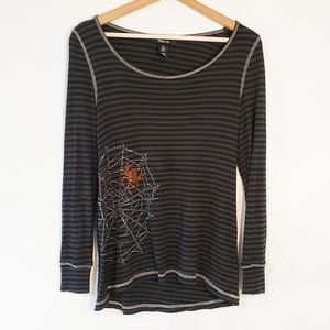 Style & Co Bejeweled Spider Web Boo Halloween Sm